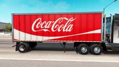 Haut Coca-Cola Metall-semi-trailer