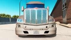Die Stoßstange auf dem Peterbilt 579 Traktor