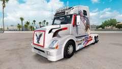 USA Aigle de la peau pour Volvo VNL 670 camion