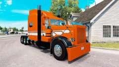Скин Orange mit Weißen Streifen на Peterbilt 389