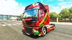 Rouge Effet peau pour DAF camion