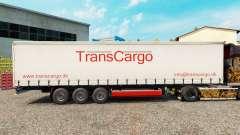 TransCargo Haut für Vorhangfassaden semi-trailer