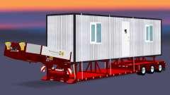 Bas de balayage avec une cargaison cabines