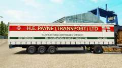Haut H. E. Payne Transport auf semi-trailer Vorh