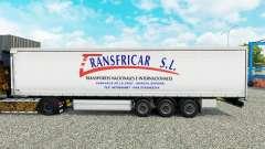 Haut Transfricar S. L. Vorhang semi-trailer