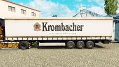 Haut Krombacher auf einen Vorhang semi-trailer