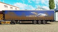 Haut-J. S. Logistik AG auf einen Vorhang semi-tr