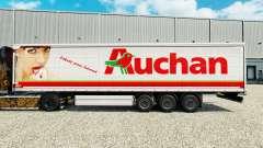 Auchan Haut für Vorhangfassaden semi-trailer