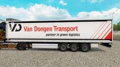 La peau Van Dongen semi-remorque de Transport de