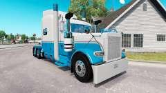Haut Baby Blau und Weiß für den truck-Peterbilt