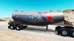 Haut Cemex semi-tank für Zement