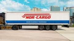 Haut Nor-Cargo Thermo auf einen Vorhang semi-tra
