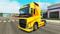 Coloration jaune de la peau pour Volvo camion