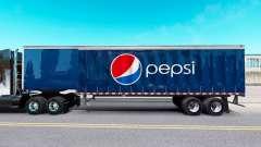 Haut Pepsi auf einen Vorhang semi-trailer