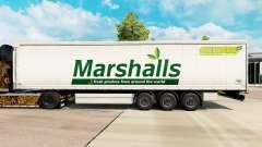 Haut Marshalls auf einem Vorhang semi-trailer