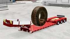Bas de balayage avec la charge de pneus de grand