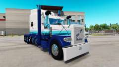 La peau Flou Ligne sur le camion Peterbilt 389