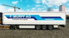 Haut F. Murpf AG auf einen Vorhang semi-trailer