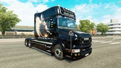 Ange noir de la peau pour Scania T camion