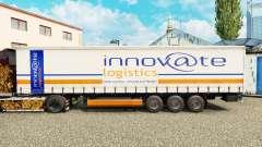 Haut Innovate Logistik auf einen Vorhang semi-tr