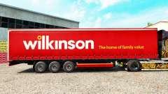 Haut Wilkinson auf einen Vorhang semi-trailer