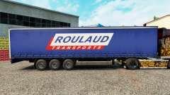 Haut Roulaud Transporte auf einen Vorhang semi-t