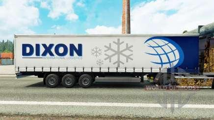 La peau Dixon sur un rideau semi-remorque pour Euro Truck Simulator 2