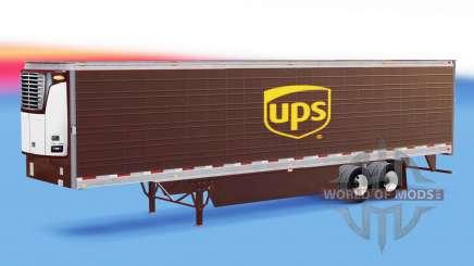 Haut UPS auf gekühlten Auflieger für American Truck Simulator