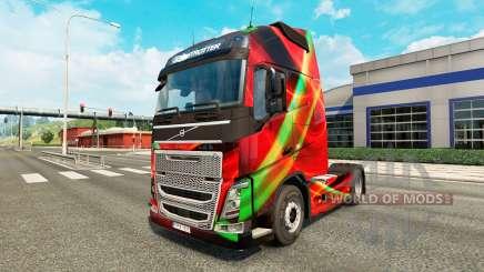 Rouge Effet peau pour Volvo camion pour Euro Truck Simulator 2
