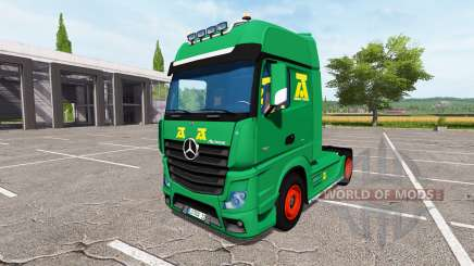 Mercedes-Benz Actros MP4 update pour Farming Simulator 2017