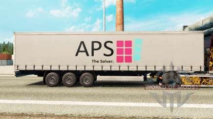 Haut APS auf einem Vorhang semi-trailer für Euro Truck Simulator 2