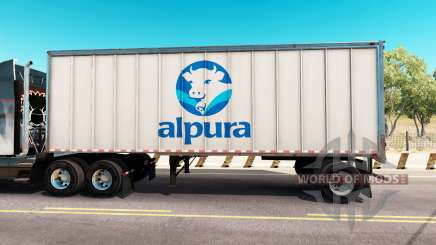 Haut Alpura der Metall-Anhänger für American Truck Simulator