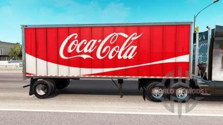 Haut Coca-Cola Metall-semi-trailer für American Truck Simulator