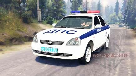LADA Priora Police DPS (VAZ-2170) für Spin Tires