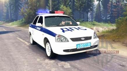 LADA Priora Polizei DPS (VAZ-2170) v2.0 für Spin Tires
