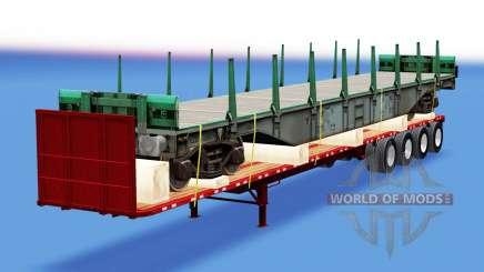 Eine Sammlung von Anhänger mit verschiedenen Lasten v4.0 für American Truck Simulator
