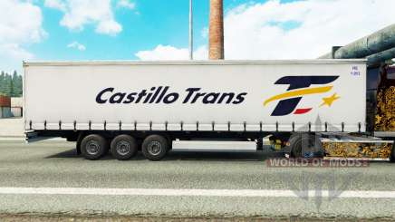 La peau Castillo Trans sur un rideau semi-remorque pour Euro Truck Simulator 2