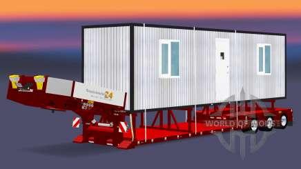 Bas de balayage avec une cargaison cabines pour Euro Truck Simulator 2