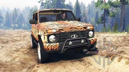 VAZ-21214 (Lada 4x4 Urban) tiger für Spin Tires