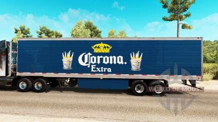 Corona Extra Haut auf der reefer-trailer für American Truck Simulator