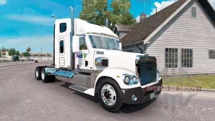 La peau sur la FedEx camion Freightliner Coronado pour American Truck Simulator