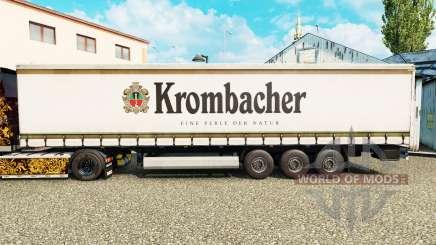 La peau Krombacher sur un rideau semi-remorque pour Euro Truck Simulator 2