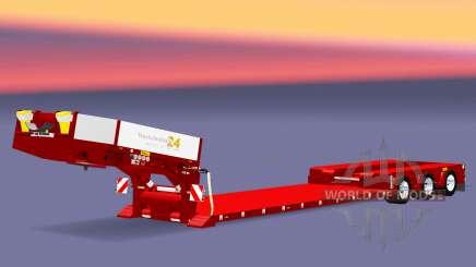 Trois axes de basse-lit au chalut de Poupée Vario pour Euro Truck Simulator 2