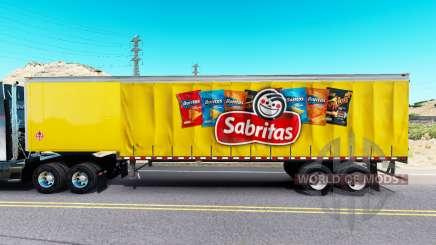La peau Sabritas sur un rideau semi-remorque pour American Truck Simulator