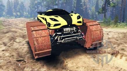 Koenigsegg One:1 prototype pour Spin Tires