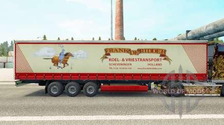 La peau de Frank de Ridder sur un rideau semi-remorque pour Euro Truck Simulator 2