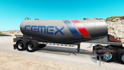La peau Cemex à semi-citerne de ciment pour American Truck Simulator