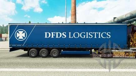La peau DFDS Logistics sur un rideau semi-remorque pour Euro Truck Simulator 2