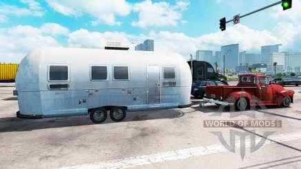 Remorque Airstream dans le trafic pour American Truck Simulator