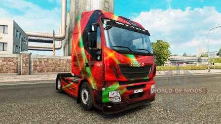 Rouge Effet peau pour Iveco tracteur pour Euro Truck Simulator 2